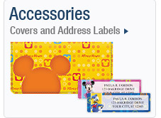 Accessories. Covers and Address Labels